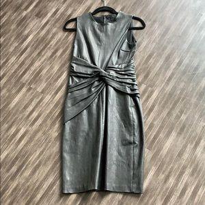 NWOT A.L.C. Leather Dress w/ Twist knot detail